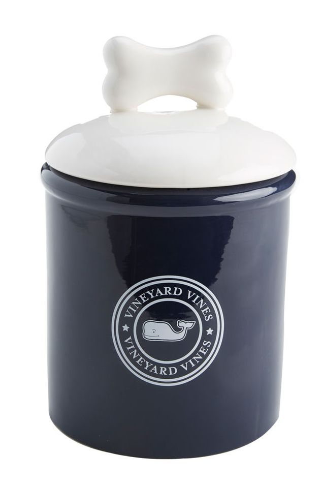 Vineyard Vines logo treat jar