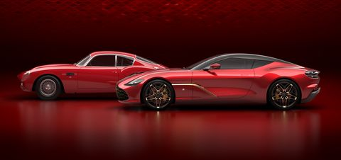 Aston MartinDBS GT Zagato and AstonMartinDB4 GT Zagato