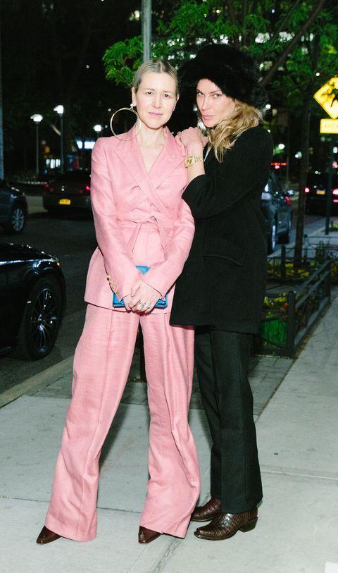 Pink, Clothing, Fashion, Snapshot, Leg, Outerwear, Footwear, Fun, Pantsuit, Peach,