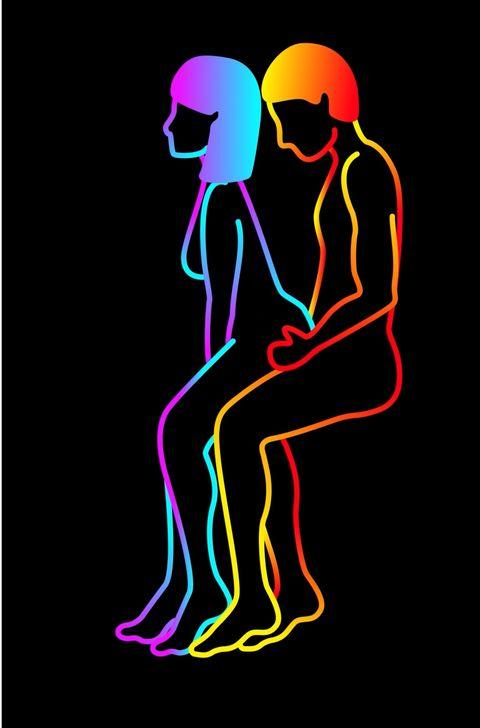 Human, Neon, Organism, Graphic design, Line art, Illustration, Magenta,