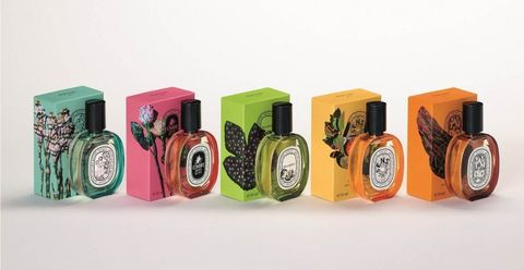 Diptyque全新「Raw Materials In Colors」系列彩虹瓶身香水