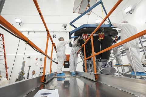 parker space probe construction