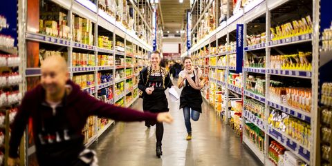 Supermarket, Grocery store, Aisle, Retail, Product, Marketplace, Convenience store, Building, Customer, Inventory,