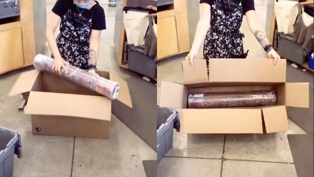 cardboard box hack