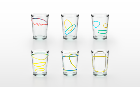 Highball glass, Drinkware, Tumbler, Pint glass, Product, Old fashioned glass, Glass, Tableware, Shot glass, Cylinder,
