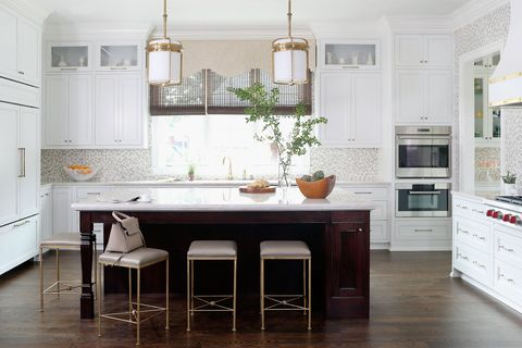 Furniture, Countertop, Room, Kitchen, Cabinetry, Interior design, Property, Floor, Tile, Building,