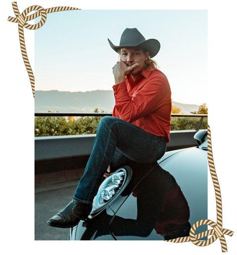 Sitting, Footwear, Headgear, Hat, Fashion accessory, Sleeve, Photography, Stock photography, Cowboy hat, Fedora,