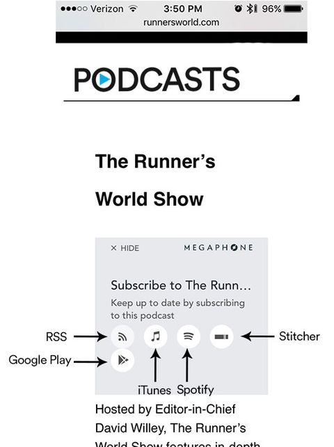 How to Subscribe to Runner's World Podcasts | Runner's World