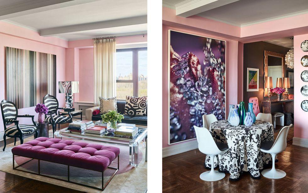 25 purple room decorating ideas how to use purple walls decor rh elledecor com