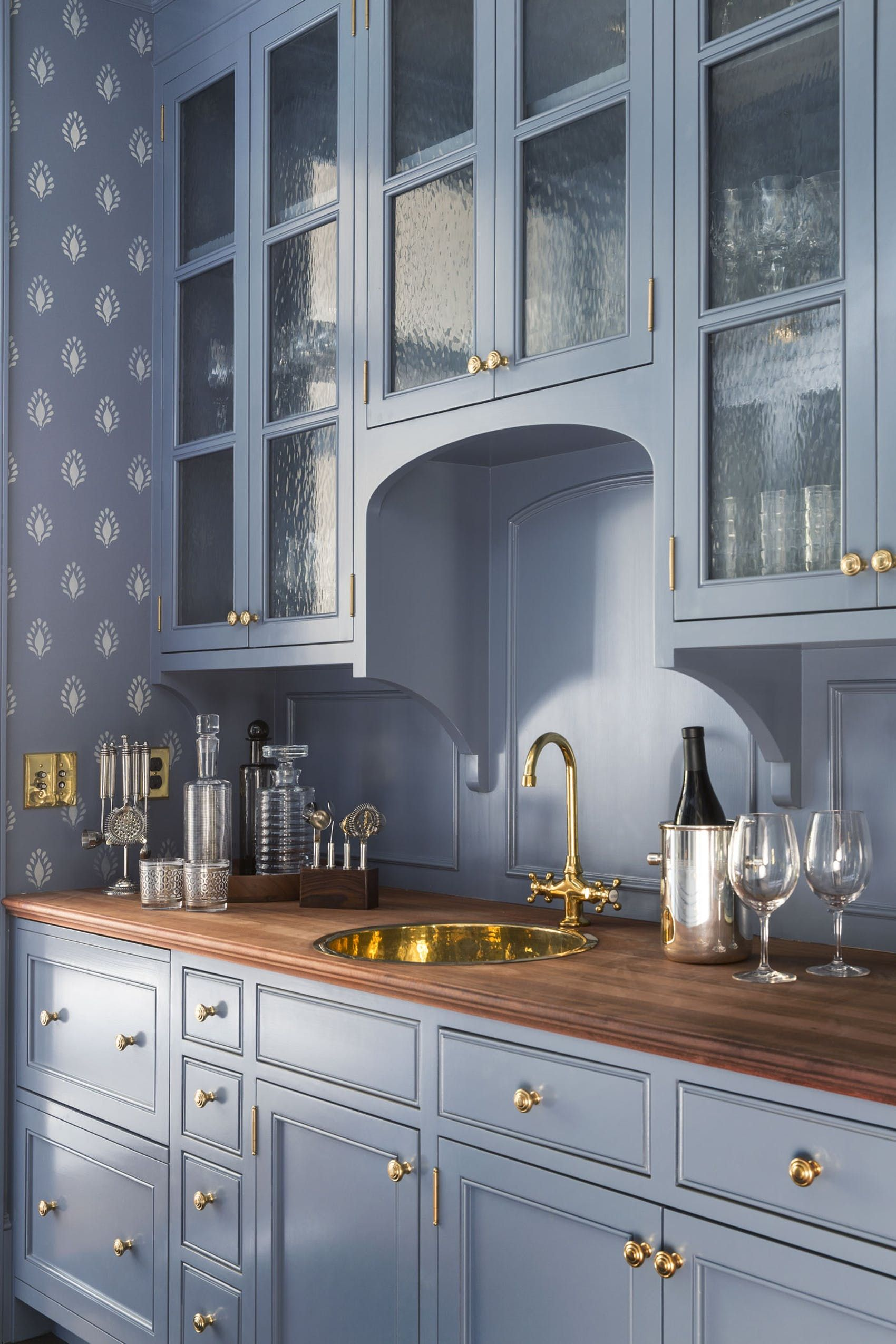 Best Butler\u0027s Pantries & 40 Blue Kitchen Ideas - Lovely Ways to Use Blue Cabinets and Decor ...