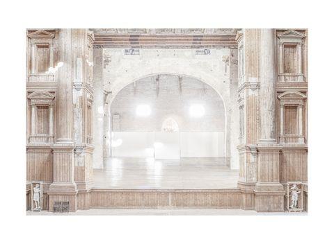 Patrizia Mussa, Teatro Farnese, 2018, archival pigment print on cotton paper, hand colored, 130x100 cm