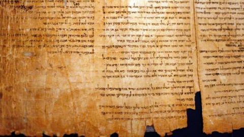 Fragmento de los Manuscritos del Mar Muerto.