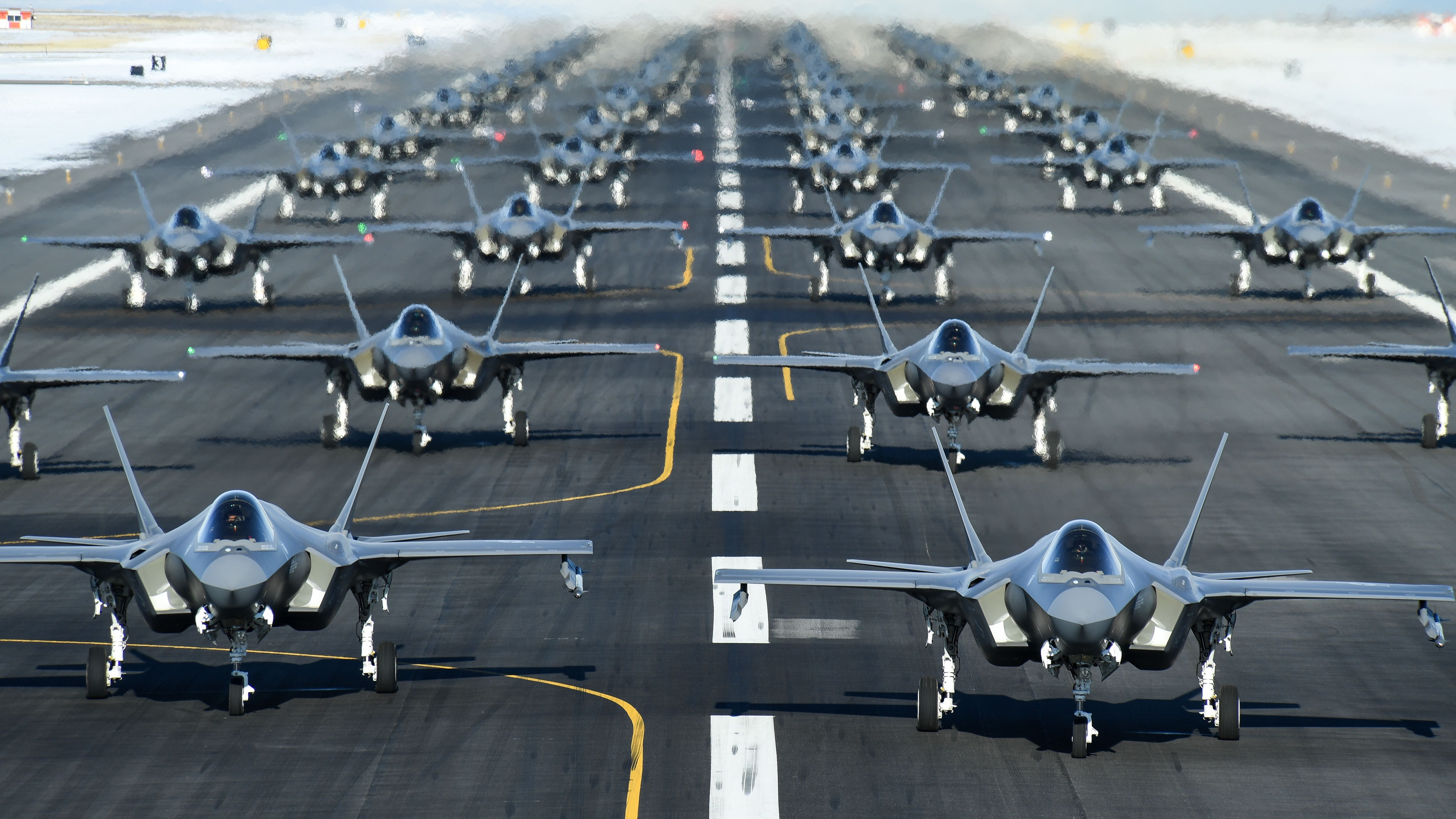 Watch the Largest F-35 Elephant Walk in History