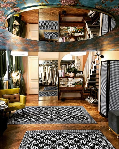 Room, Interior design, Furniture, Ceiling, Floor, Property, Living room, Building, Home, Bedroom,