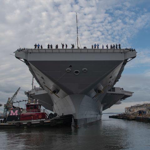 USS Gerald R. Ford (CVN 78) Moves