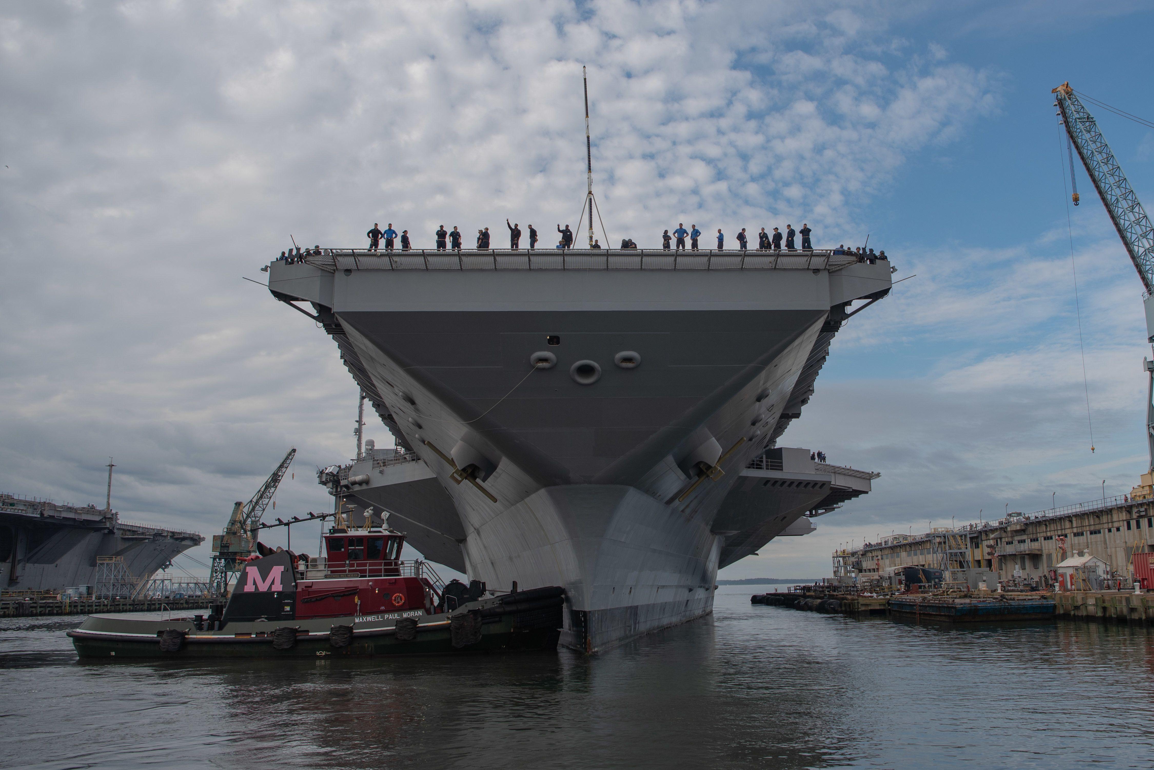 The U.S.'s $13 Billion Aircraft Carrier Has an Toilet Problem