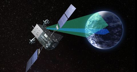 Satellite, Spacecraft, Outer space, Space, Space station, Prism, Planet, Earth, Technology, Vehicle,