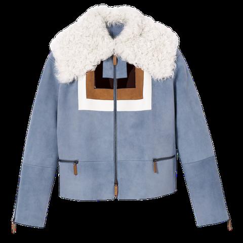 longchamp sheepskin coat shearling outerwear