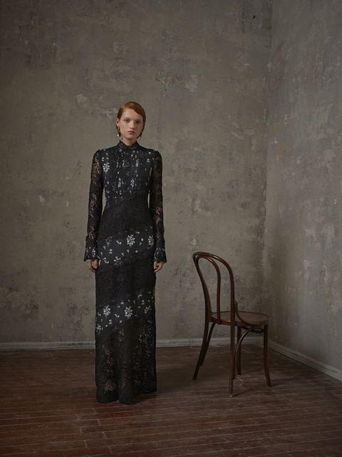 Clothing, Dress, Visual arts, Formal wear, Pattern,