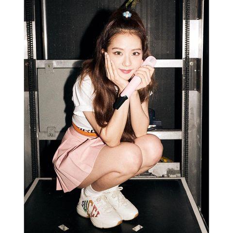 black pink jisoo 中長髮 公主頭