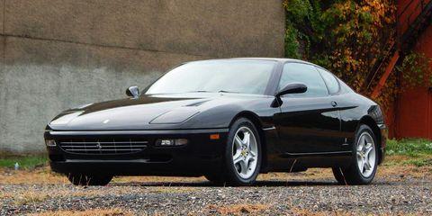 Land vehicle, Vehicle, Car, Sports car, Ferrari 456 gt, Performance car, Supercar, Automotive design, Coupé, Automotive wheel system,