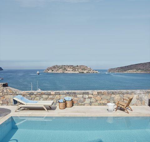 the blue palace, island luxury suite, crete
