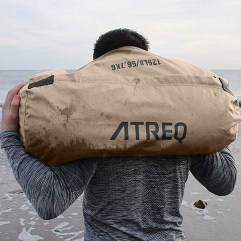 Sandbag exercises for burning fat and building muscle