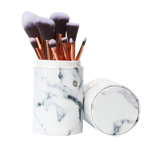 Brush, Makeup brushes, Cosmetics, Watercolor paint, Cylinder, Tool,