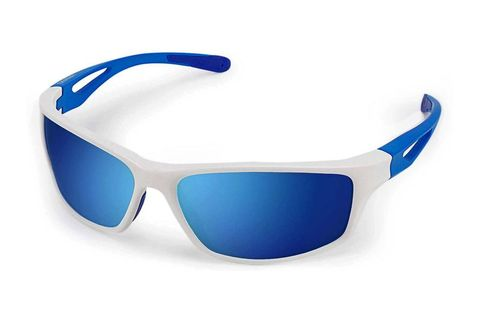 Eyewear, Sunglasses, Glasses, Blue, Personal protective equipment, Cobalt blue, Goggles, Vision care, Transparent material, Electric blue,