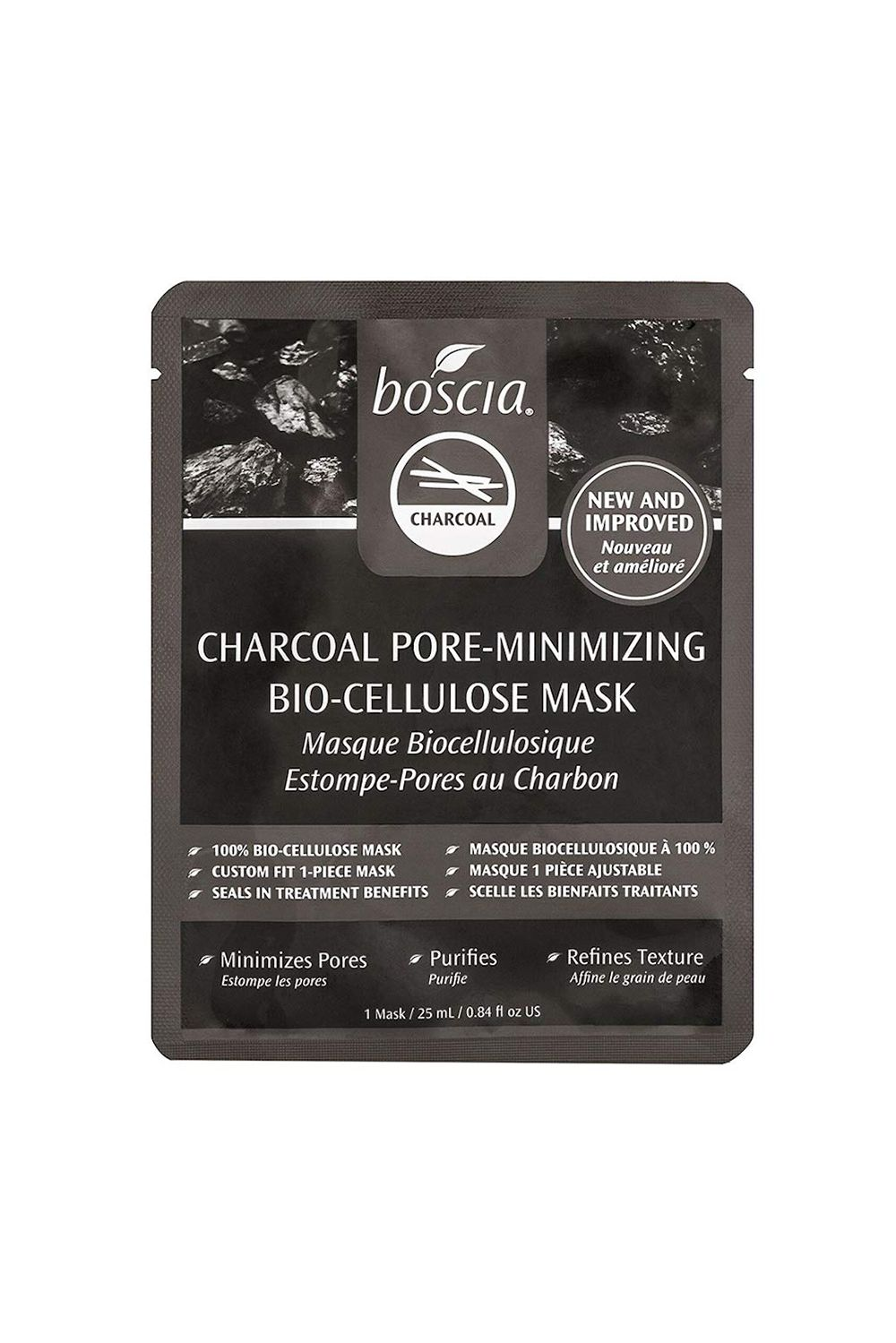 Boscia Charcoal Pore-Minimizing Bio-Cellulose Mask Boscia Charcoal Pore-Minimizing Bio-Cellulose Mask, $8 SHOP IT Having a giant pore day? Happens to the best of us.