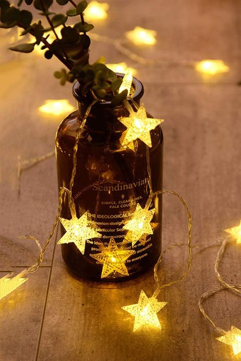 star string lights in a jar