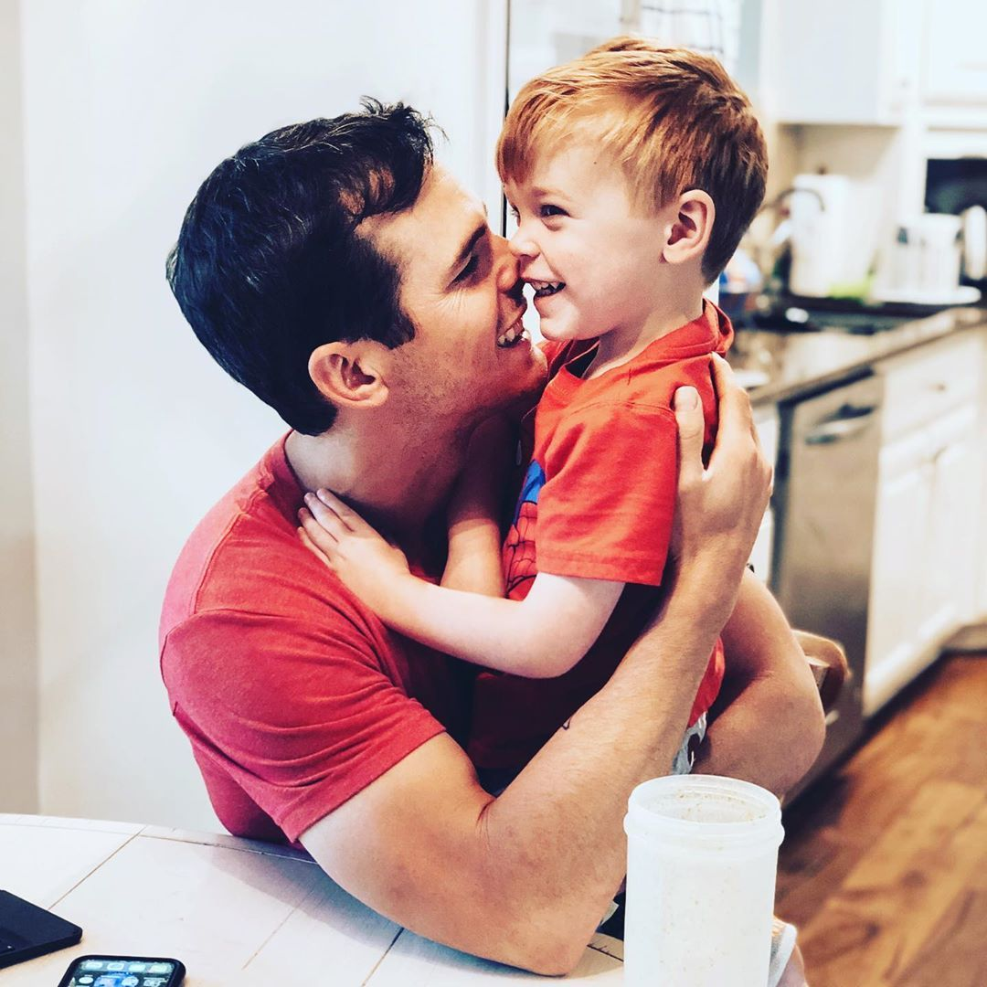 Photo of Granger Smith  & his  Son  River Kelly Smith
