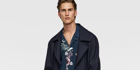 camisa hawaiana zara hombre