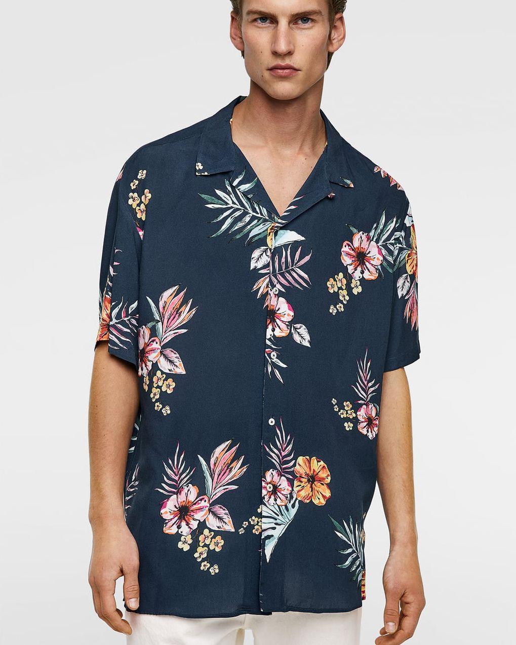 camisa hawaiana zara