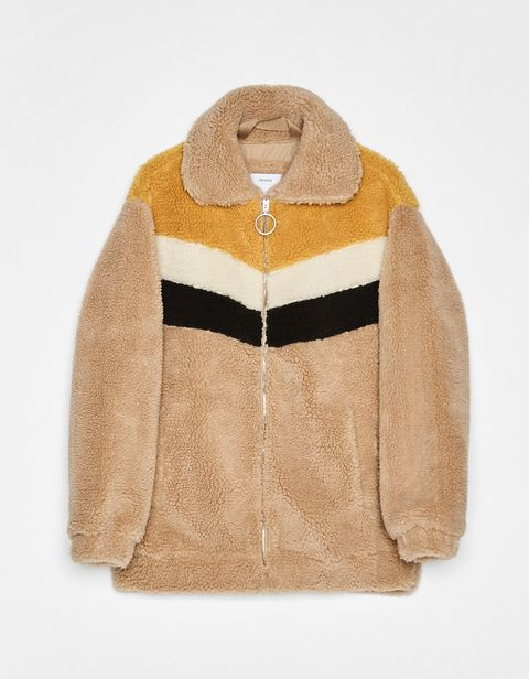 Clothing, Outerwear, Jacket, Tan, Sleeve, Beige, Brown, Fur, Hood, Leather,