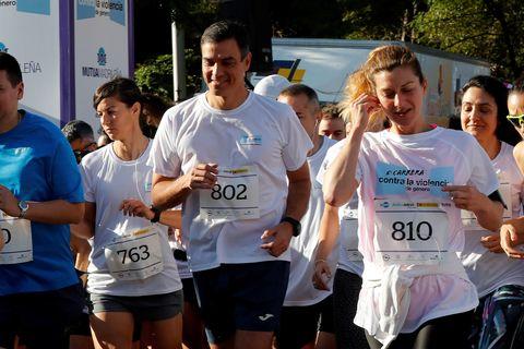 Pedro Sánchez se apunta al running contra la violencia de género.