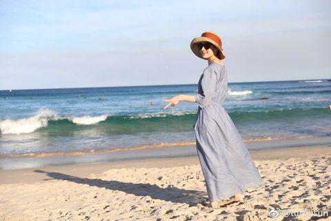 Beach, Dress, Summer, Sea, Vacation, Ocean, Shore, Photography, Fun, Headgear,