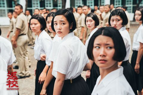 Face, Head, People, Crowd, Black hair, Street fashion, Youth, Temple, Tradition, Bangs,