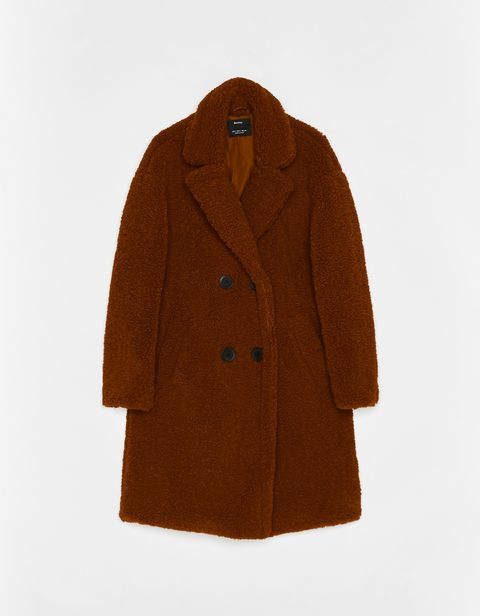 Clothing, Outerwear, Coat, Tan, Overcoat, Brown, Sleeve, Woolen, Jacket, Collar,