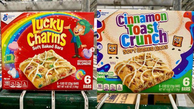 soft bars lucky charms and cinnamon toast crunch boxes