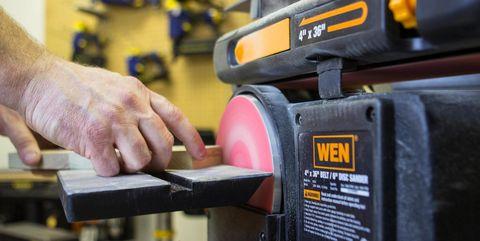 Tool, Angle grinder, Random orbital sander, Impact wrench, Machine, Coping saw, Power tool, Bench grinder, Abrasive saw, Planer,