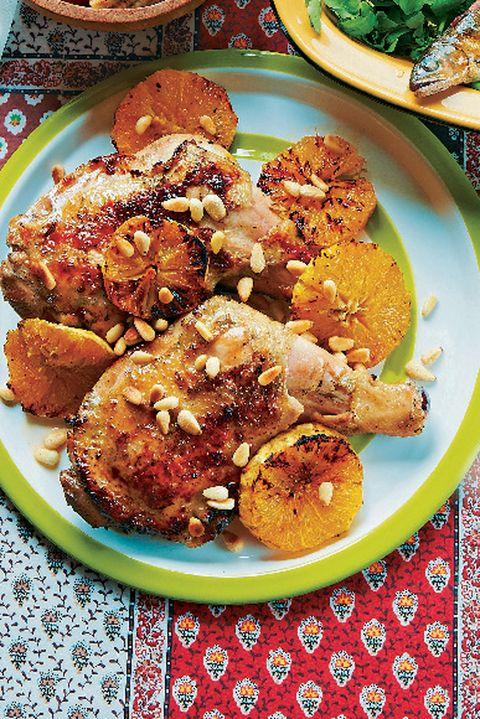 鶏もも肉のヨーグルト焼き メープルオレンジ風味