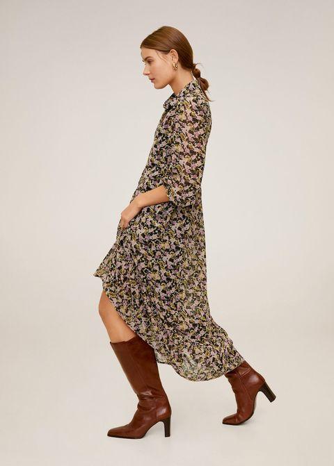 Brown, Sleeve, Dress, Human leg, Shoulder, Textile, Joint, One-piece garment, Style, Pattern,