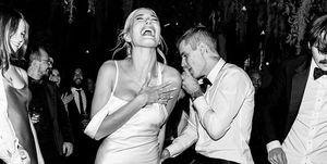 Hailey y Justin Bieber el día de su boda