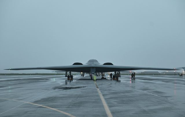 three b 2 spirit stealth bombers, assigned to whiteman air force base, missouri, arrive at keflavik air base, iceland, august 23, 2021 the stealth bombers will take part in their first ever forward operation out of iceland, highlighting air force global strike airmen capabilities of executing bomber agile combat employment in the european theater by training in iceland, aircrew and airmen are familiarizing themselves with the european theater and airspace, enhancing enduring skills and relationships with nato allies and regional partners us air force photo by airman 1st class victoria hommel