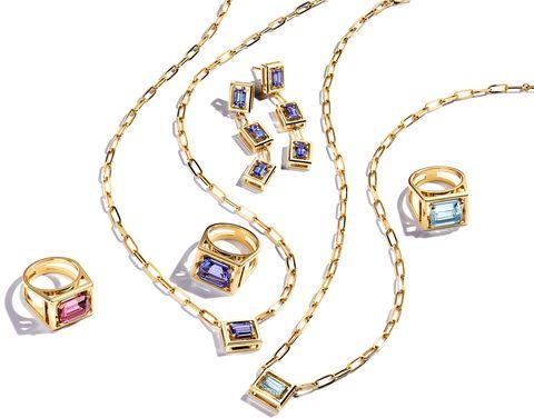 18y pk tour xl jewel box rg, 18y pkt lg jewel box necklace, 18y tz lg jb necklace , 18y tz ewel box drop earring, 18y aq large jewel box necklace, 18y aq xl jewel box ring