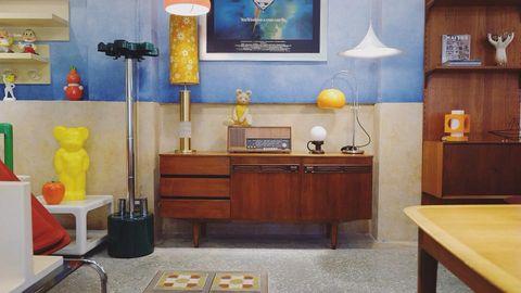 1960s 英國 柚木邊櫃