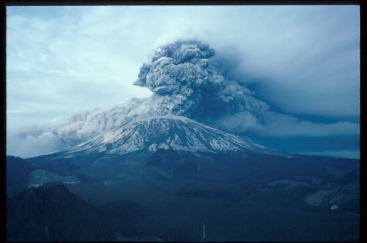 019804 01 mount saint helens erupts may 18, 1980 in washington state the natural occurrence blew a mushroom cloud of ash thousands of miles into the air that destroyed nearly one hundred fifty square miles of forest photo by john barrliaison