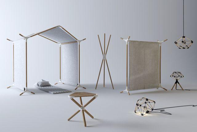 oggetti della mostra design nomade che ti è tenuta al base di milano durante la design week 2017