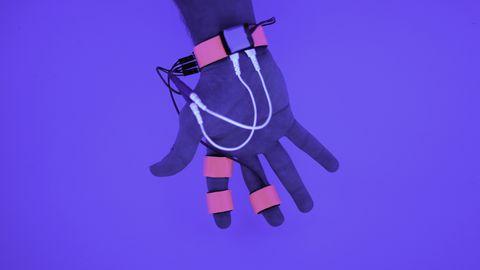Violet, Purple, Finger, Hand, Glove, Graphic design,